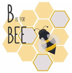 B Is For Bee embroidery design