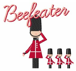 Beefeater embroidery design
