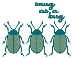 Sung As A Bug embroidery design