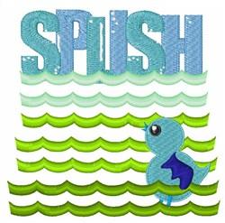 Splish embroidery design