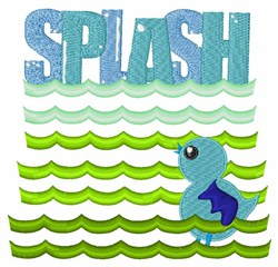 Splash embroidery design