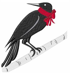Black Bird embroidery design