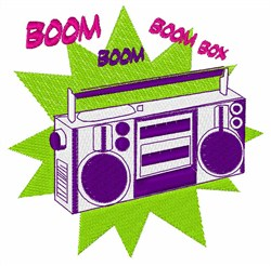 Boom Boom Box embroidery design