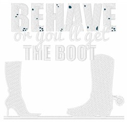 Youll Get The Boot embroidery design