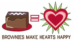 Brownies Happy embroidery design