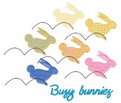 Busy Bunnies embroidery design