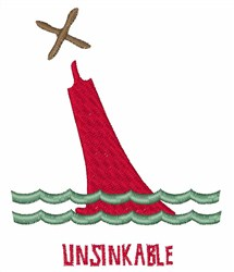 Unsinkable embroidery design