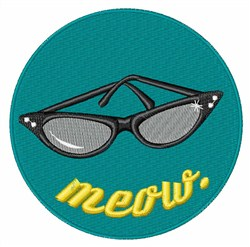 Meow Sunglasses embroidery design