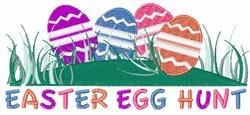 Easter Egg Hunt embroidery design