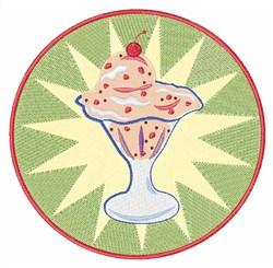 Ice Cream Sundae embroidery design