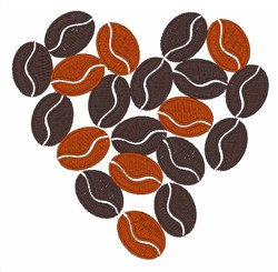 Coffee Beans embroidery design