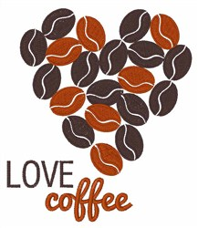 Love Coffee embroidery design