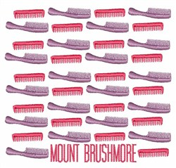 Mount Brushmore embroidery design
