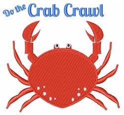 Crab Crawl embroidery design