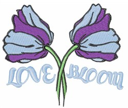 Love Bloom embroidery design