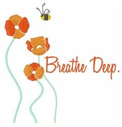 Breathe Deep embroidery design