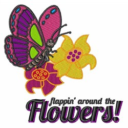 Around The Flowers embroidery design