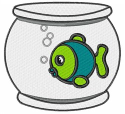 Fish In Fishbowl embroidery design