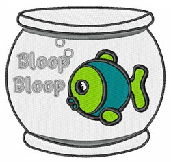 Bloop Bloop Fish embroidery design