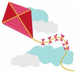Kite embroidery design
