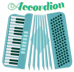 Musical Accordion embroidery design