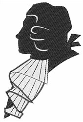 Silhouette Head embroidery design