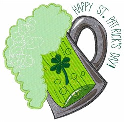 St. Patricks Beer embroidery design