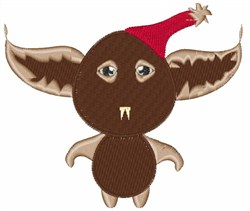 Monster Bat embroidery design