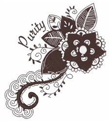 Purity Flower embroidery design