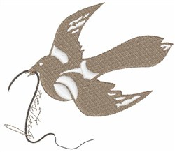 Resting Bird embroidery design