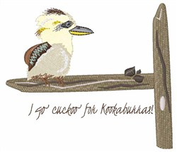 Cuckoo Kookaburra embroidery design