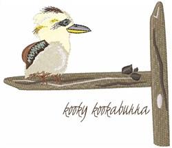 Kooky Kookaburra embroidery design