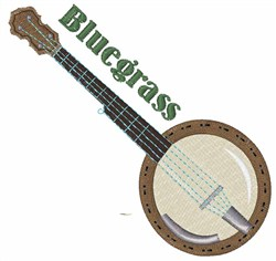 Bluegrass Banjo embroidery design