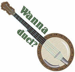 Duel Banjo embroidery design
