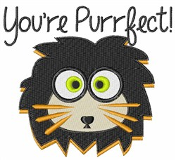 Purrfect Lion embroidery design