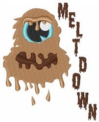 Meltdown Monster embroidery design