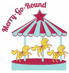 Merry-Go-Round embroidery design