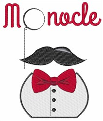 Monocle Clothing embroidery design