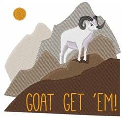 Goat Get Em embroidery design