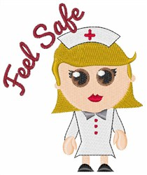Feel Safe embroidery design