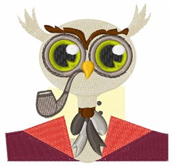 Gentleman Owl embroidery design