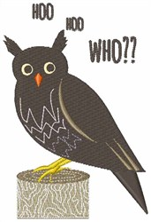 Hoo Who embroidery design