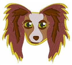 Papillion Head embroidery design