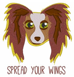 Dog Wings embroidery design