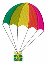 Parachute Gift embroidery design
