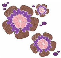 Flower Blossoms embroidery design
