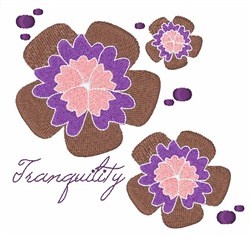 Tranquility Flowers embroidery design