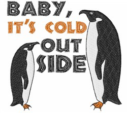 Penguin Cold embroidery design