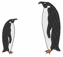 Penguin Birds embroidery design