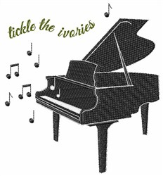 Tickle the Ivories embroidery design